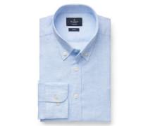 Leinenhemd 'Brompton' Button-Down-Kragen hellblau