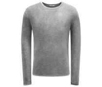 Frottee R-Neck Sweatshirt 'Veit' grau