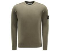 R-Neck Pullover graugrün