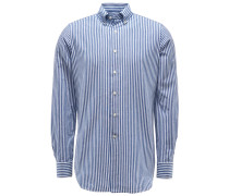Casual Hemd Button-Down-Kragen navy/weiß