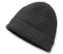 Cashmere Mütze anthrazit