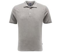 Frottee-Poloshirt grau