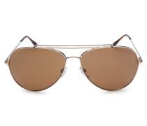 Sonnenbrille 'Indiana-60' gold/braun