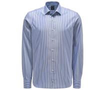 Oxfordhemd 'Malin' schmaler Kragen blau/weiß