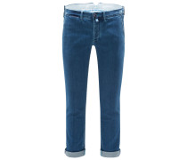 Denim-Chino 'Lion BC Comfort Slim Fit' blau