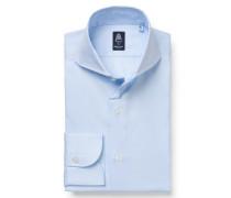 Business Hemd 'Sergio Napoli' Haifisch-Kragen pastellblau