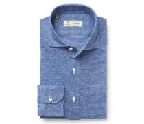 Jersey-Hemd 'Capri' Haifisch-Kragen graublau