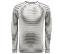 R-Neck Sweatshirt 'Charles' grau/schwarz