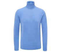Cashmere Rollkragenpullover azurblau
