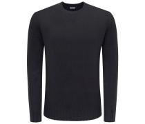 Cashmere R-Neck Pullover schwarz