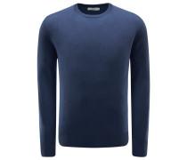 Cashmere R-Neck Pullover graublau