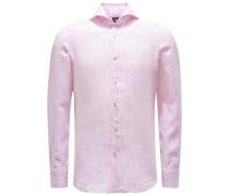 Leinenhemd 'Sergio Gaeta' Haifisch-Kragen rosé/weiß