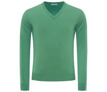 Cashmere V-Neck Pullover 'No. 30' grün