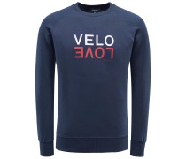 R-Neck Sweatshirt 'Velo Love' navy