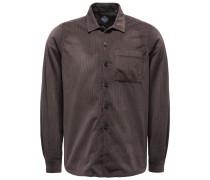 Cord-Overshirt graubraun
