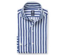Flanellhemd 'Sergio Gaeta' Haifisch-Kragen dunkelblau
