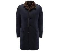 Jersey-Mantel 'Sweater Coat' navy