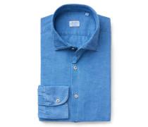 Casual Hemd 'Ween' schmaler Kragen graublau