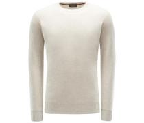 Cashmere R-Neck Pullover 'Girocollo Seamless' beige