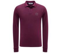 Longsleeve-Poloshirt bordeaux