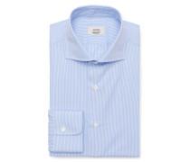 Business Hemd Haifisch-Kragen rauchblau/weiß