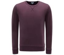 R-Neck Sweatshirt bordeaux