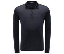 Longsleeve-Poloshirt 'High Performance' dark navy