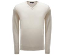 Merino V-Neck Pullover beige