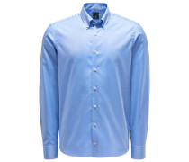 Oxfordhemd 'Malin' Button-Down-Kragen hellblau