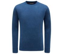Cashmere R-Neck Pullover 'Girocollo Seamless' graublau