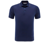 Strickpolo navy