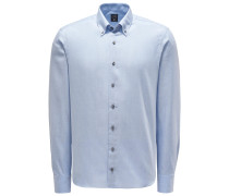 Casual Hemd 'Malin' Button-Down-Kragen hellblau