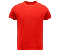 Frottee-Kurzarm-Sweatshirt rot