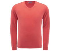 Cashmere V-Neck Pullover 'Soffio' koralle