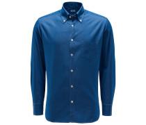 Chambray-Hemd Button-Down-Kragen rauchblau