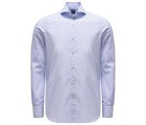 Casual Hemd 'Sergio Interno' Haifisch-Kragen dunkelblau/weiß