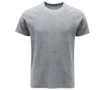 Frottee-Kurzarm-Sweatshirt grau