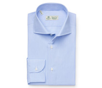 Business Hemd 'Nando' Haifisch-Kragen hellblau/weiß