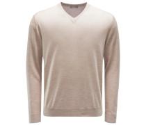V-Neck Pullover beige