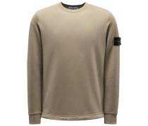 Sweatshirt mit Rundhals khaki