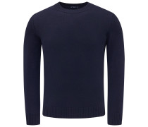 Cashmere R-Neck Pullover navy