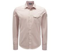 Casual Hemd 'Steadway' schmaler Kragen beige