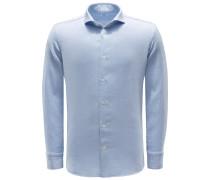 Casual Hemd schmaler Kragen pastellblau