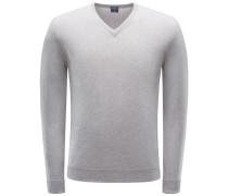 Cashmere V-Neck Pullover graubraun