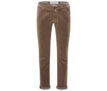 Fustagno-Hose 'J613 Comfort Slim Fit' graubraun