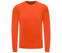 Cashmere R-Neck Pullover 'Argentina' orange