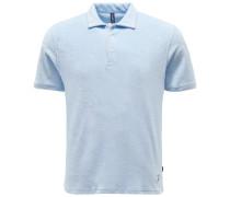 Frottee-Poloshirt pastellblau