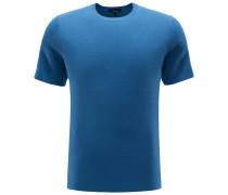 R-Neck Kurzarm-Pullover rauchblau