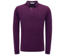 Longsleeve-Poloshirt violett