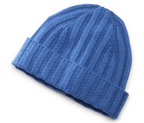 Cashmeremütze blau